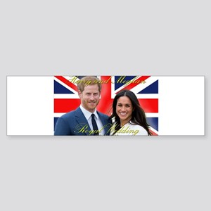 HRH Prince Harry and Meghan Markle Bumper Sticker
