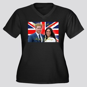 HRH Prince Harry and Meghan Mark Plus Size T-Shirt