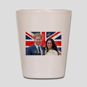 HRH Prince Harry and Meghan Markle Shot Glass