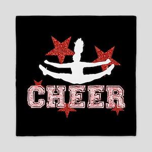 Cheerleader black and red Queen Duvet