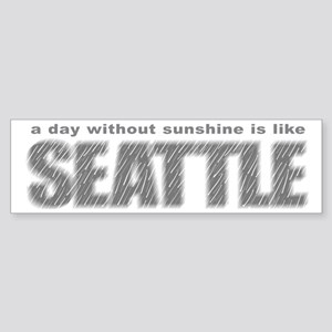 funny Rainy Seattle Weather Bumper Sticker