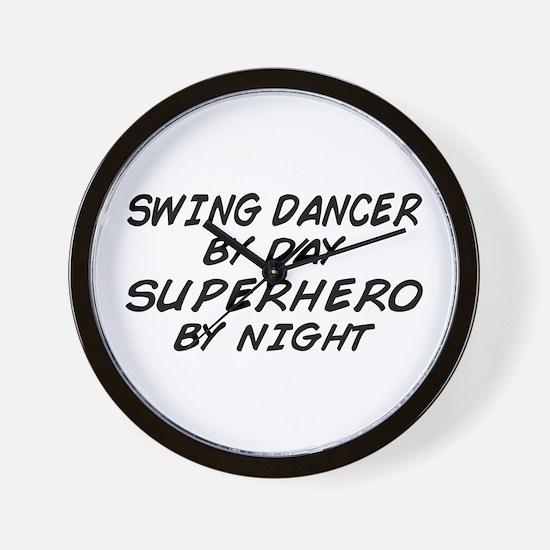 Swing Dancer Superhero by Night Wall Clock