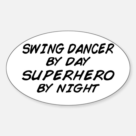 Swing Dancer Superhero by Night Oval Decal