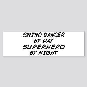 Swing Dancer Superhero by Night Bumper Sticker
