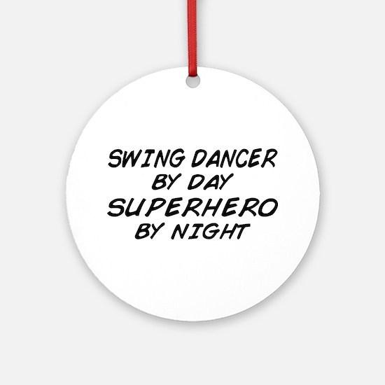 Swing Dancer Superhero by Night Ornament (Round)
