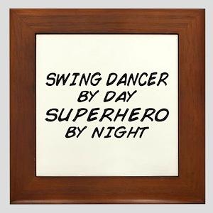 Swing Dancer Superhero by Night Framed Tile