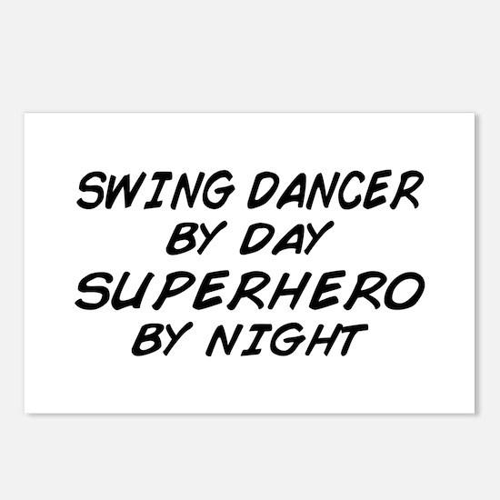 Swing Dancer Superhero by Night Postcards (Package