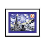 Van Gogh Kitty Starry Night Art Print