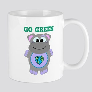 Go Green Earth Day Hippo Mug