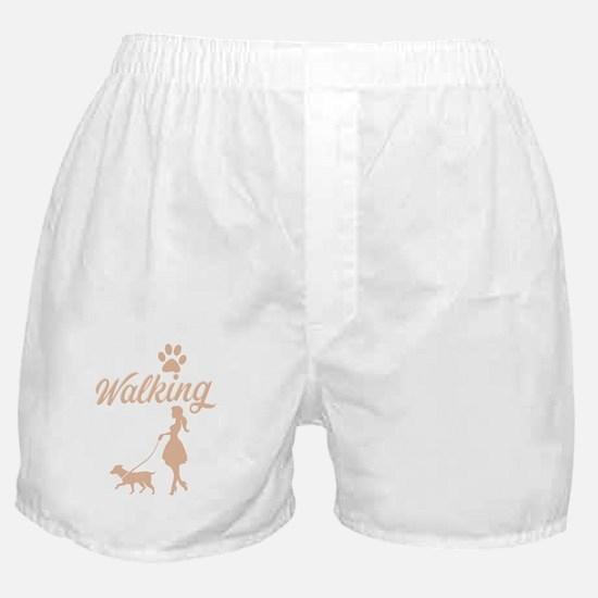 Dog Walking - A dog walking shirt for Boxer Shorts