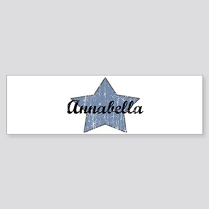 Annabella (blue star) Bumper Sticker