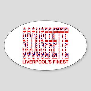 Scouserette Oval Sticker