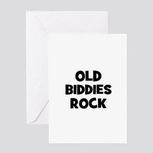 Old Biddies Rock Greeting Cards