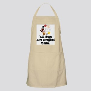 All dogs equal BBQ Apron