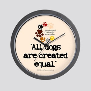 All dogs equal Wall Clock