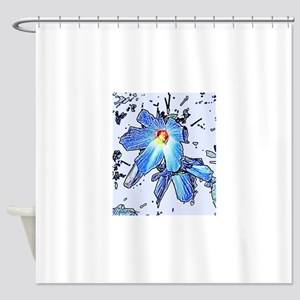 HIBISCUS GRAPHIC DESIGN BY MILLIE Shower Curtain