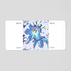 HIBISCUS GRAPHIC DESIGN BY Aluminum License Plate