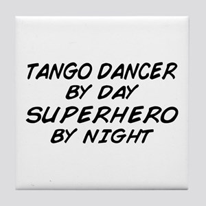 Tango Dancer Superhero by Night Tile Coaster