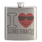 I Love Long Beach Flask