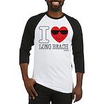 I Love Long Beach Baseball Jersey