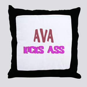 Ava Kicks Ass Throw Pillow