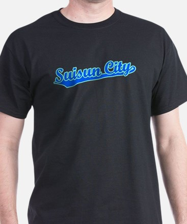 Retro Suisun City (Blue) T-Shirt