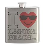 I Love Laguna Beach Flask