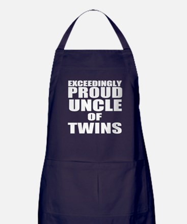 proud uncle of twins Apron (dark)