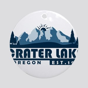 Crater Lake - Oregon Round Ornament