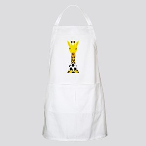 Funny Giraffe Playing Soccer Light Apron