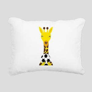 Funny Giraffe Playing Soccer Rectangular Canvas Pi