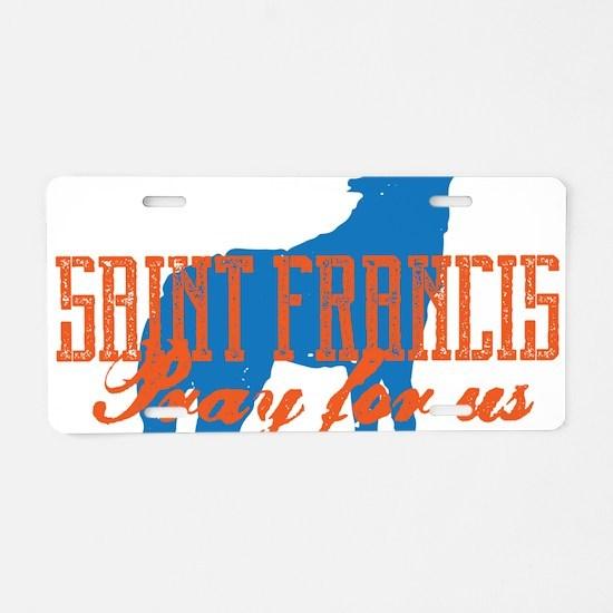 Saint Francis Aluminum License Plate