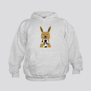 Cute Llama Playing Soccer Cartoon Sweatshirt