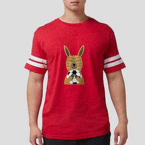 Cute Llama Playing Soccer Cartoon T-Shirt