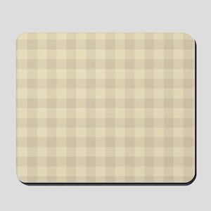 Pastel Beige Tartan Pattern Mousepad