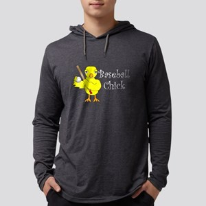 Baseball Chick Narrow Mens Hooded Shirt