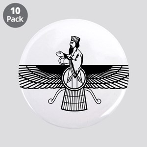 "Farvahar Design I 3.5"" Button (10 pack)"