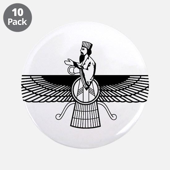 "Farvahar Design I 3.5"" Button (10 pack)"
