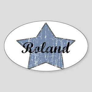 Roland (blue star) Oval Sticker