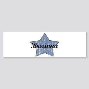 Breanna (blue star) Bumper Sticker