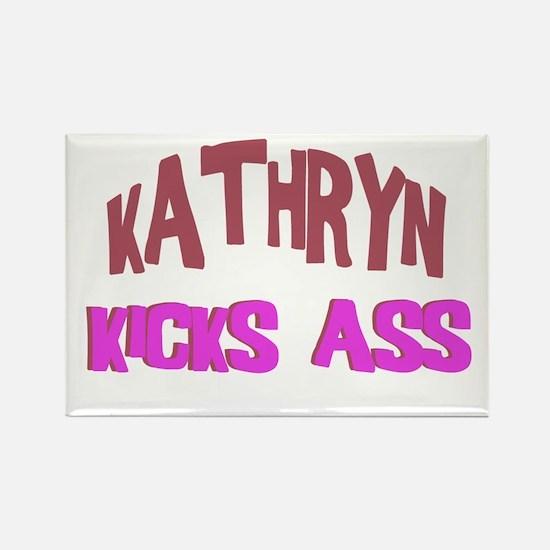 Kathryn Kicks Ass Rectangle Magnet