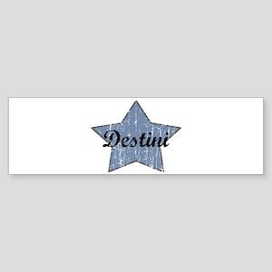 Destini (blue star) Bumper Sticker