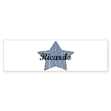 Ricardo (blue star) Bumper Sticker