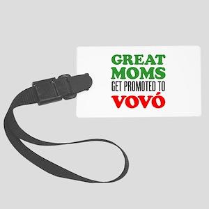 Promoted To Vovo (Grandma) Drinkware Luggage Tag