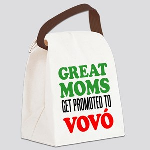 Promoted To Vovo (Grandma) Drinkware Canvas Lunch