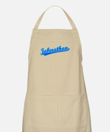 Retro Johnathon (Blue) BBQ Apron