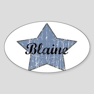 Blaine (blue star) Oval Sticker