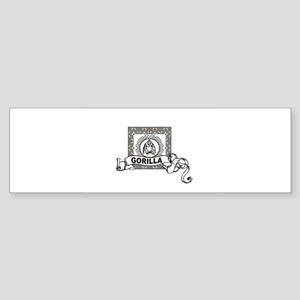 boxed gorilla Bumper Sticker
