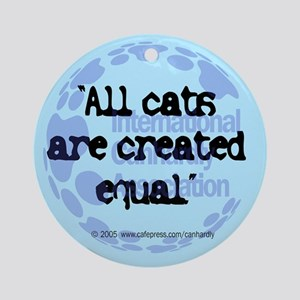 All cats created equal Keepsake (Round)