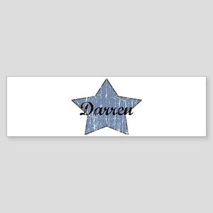 Darren (blue star) Bumper Sticker